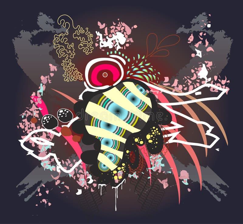 grunge grafiki organicznych ilustracja wektor