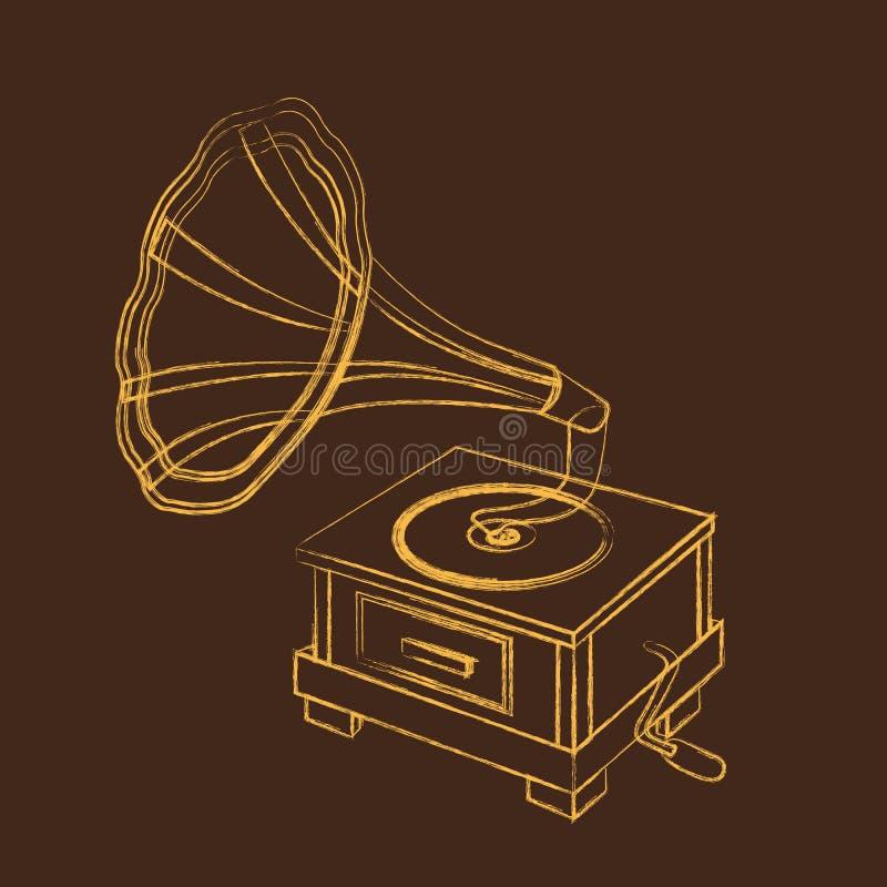Grunge Gramophone Royalty Free Stock Images