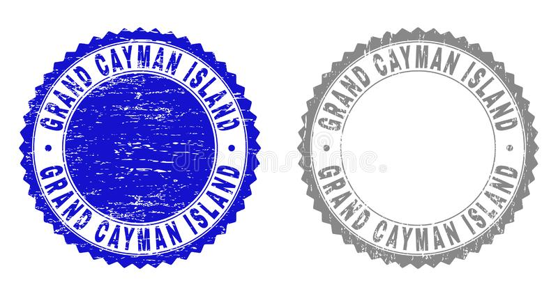Grunge GRAND CAYMAN ISLAND Textured Watermarks royalty free illustration