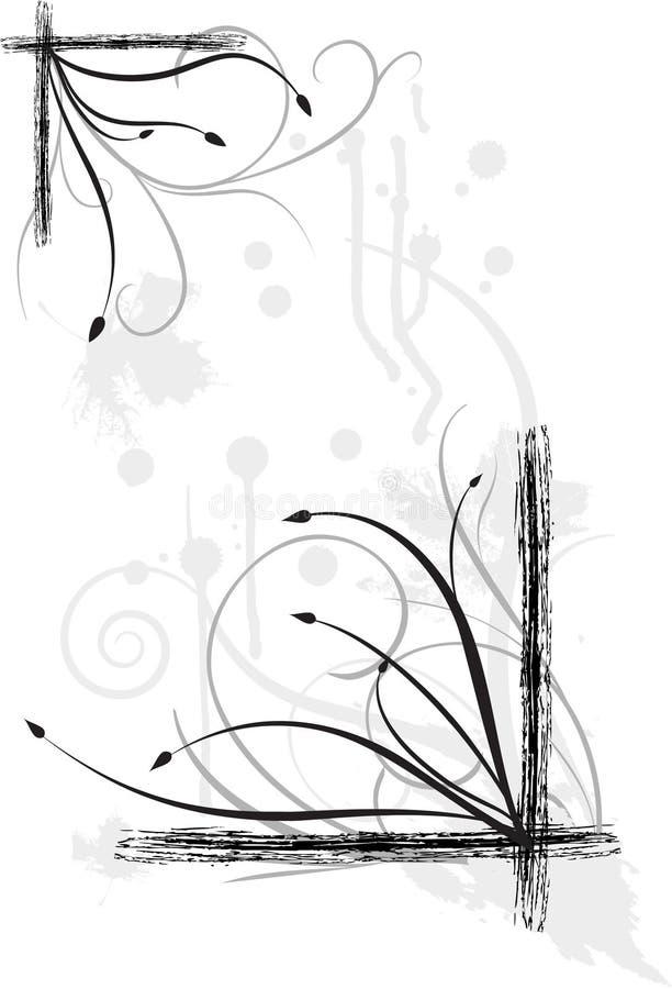 grunge graniczny ilustracja wektor