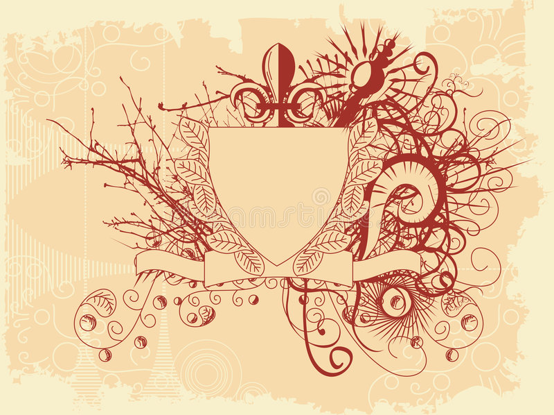 grunge graniczny styl royalty ilustracja