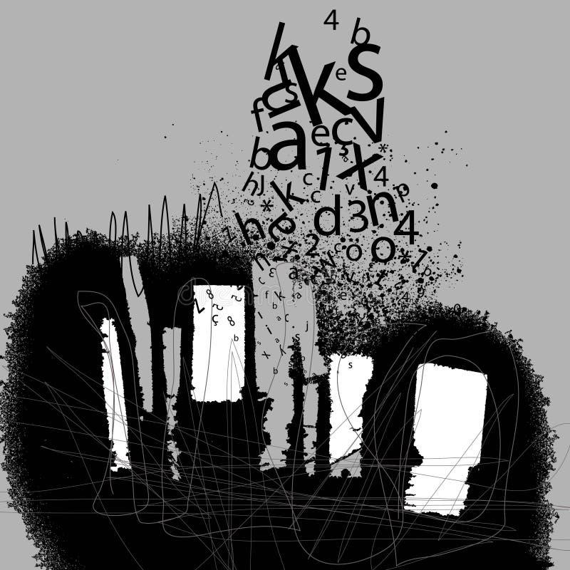 Grunge graphic royalty free illustration