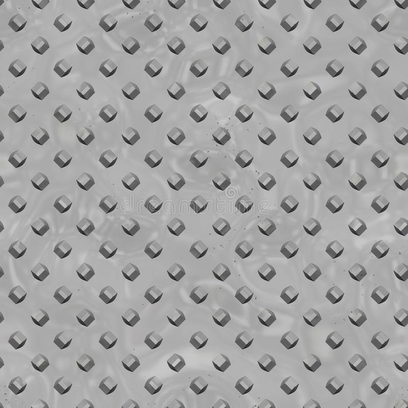 Grunge Gray Metal Plate Seamless Texture libre illustration