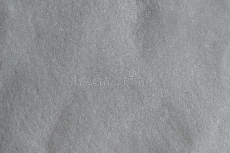 Grunge gray soft paper texture. Macro close up view stock image