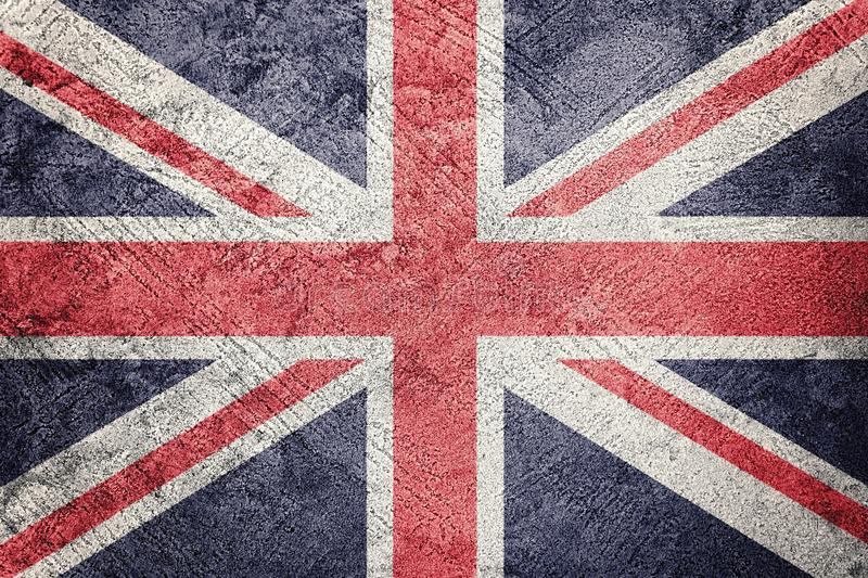 Grunge Great Britain flag. Union Jack flag with grunge texture royalty free stock photos