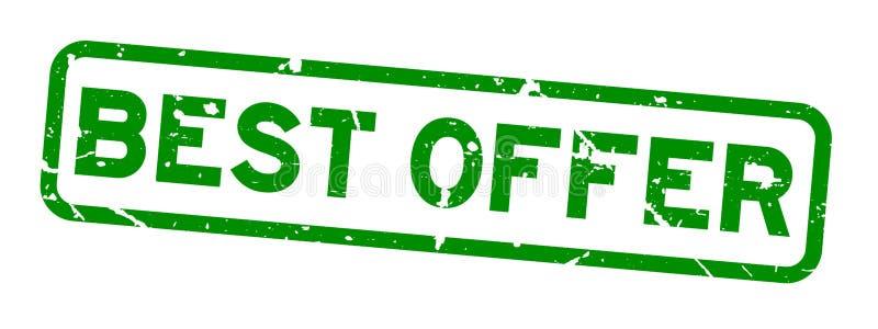 Best offer stamp stock illustration. Illustration of badge - 11625642