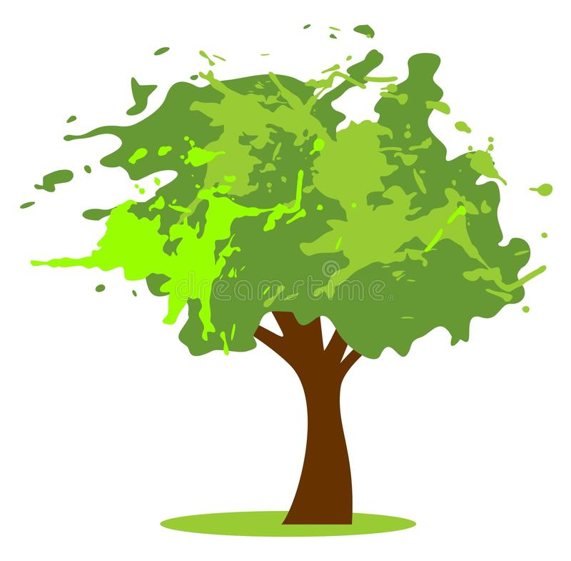 Download Grunge green tree stock vector. Illustration of nature - 25374008