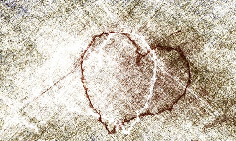 Grunge grise et noire de paroi de coeur de fond de sol en béton pour la création abstraite illustration libre de droits