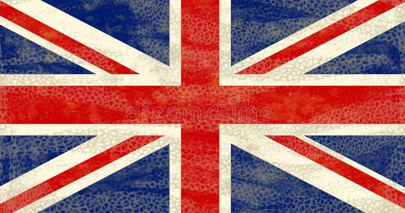 Grunge Großbritannien Markierungsfahne stock abbildung