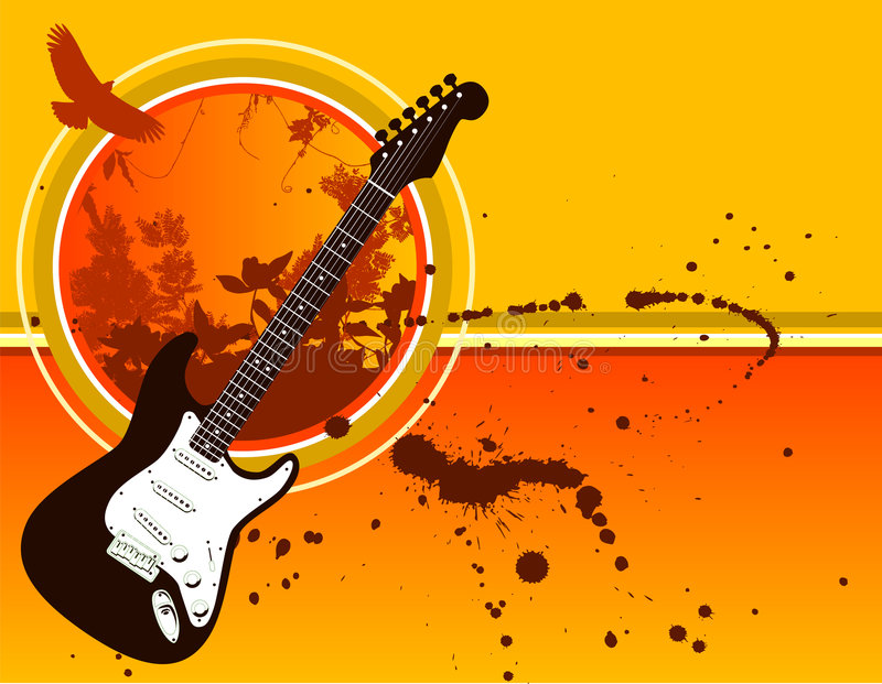 Download Grunge Guitar Background stock vector. Image of drip, guitar - 5112954