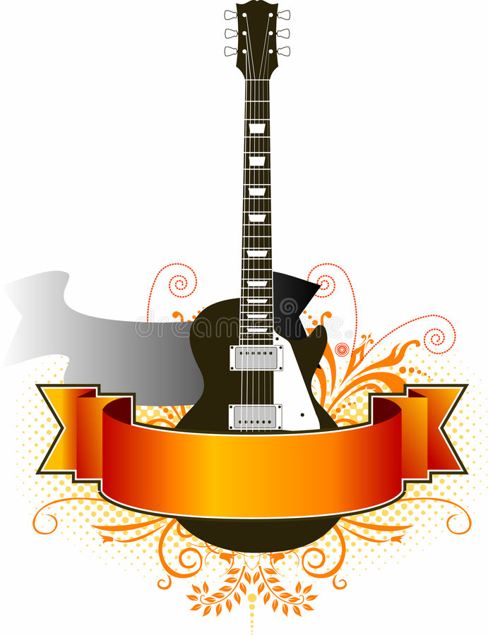 Grunge Guitar Background Stock Image