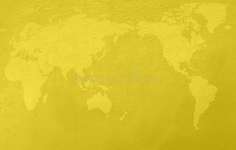 Grunge gul bakgrund royaltyfri illustrationer