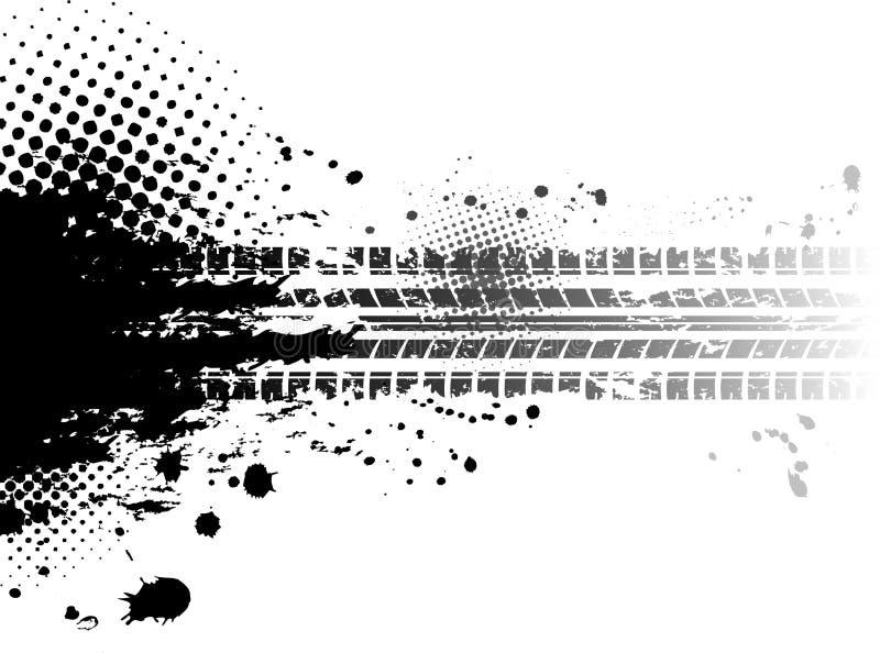 Grunge Gummireifen spürt Hintergrund auf vektor abbildung