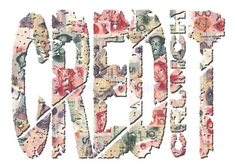Grunge Gutschrift-Knirschen mit Yuan vektor abbildung