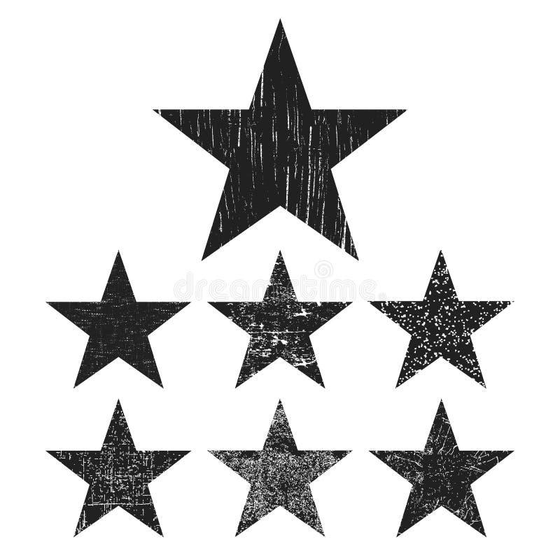 Grunge gwiazdowa kolekcja ilustracja wektor