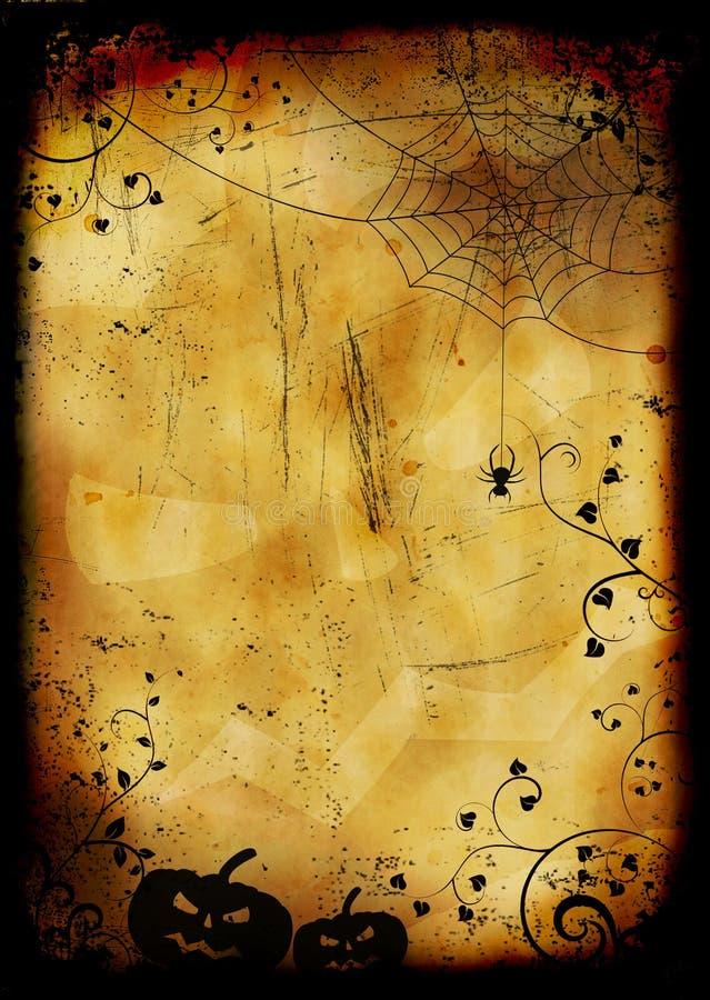 Grunge ha bruciato la priorità bassa di Halloween illustrazione vettoriale