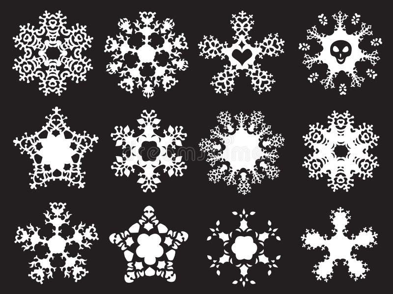 Grunge ha designato i fiocchi di neve royalty illustrazione gratis
