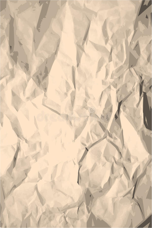 Grunge ha sgualcito la struttura di carta illustrazione di stock