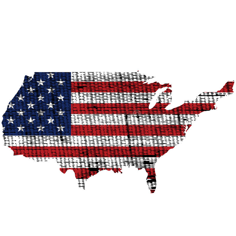 Grunge ha strutturato la bandierina degli S.U.A. illustrazione di stock