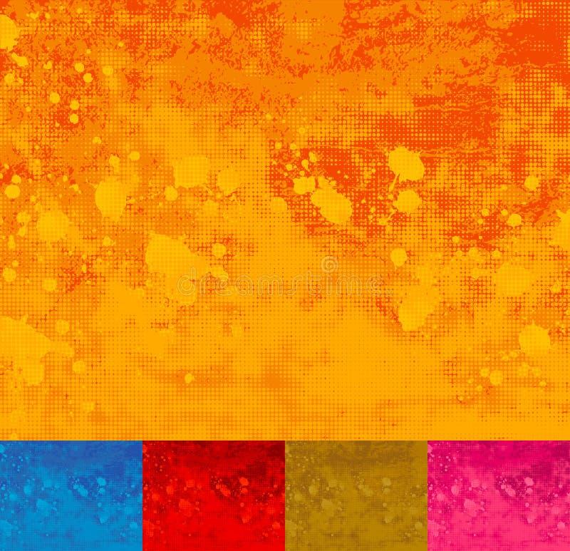 Grunge Halbtonbild Splattered Hintergrund. vektor abbildung