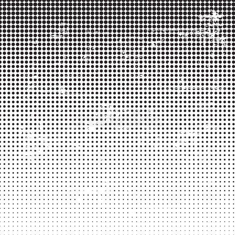 Grunge halftone dotted background royalty free illustration
