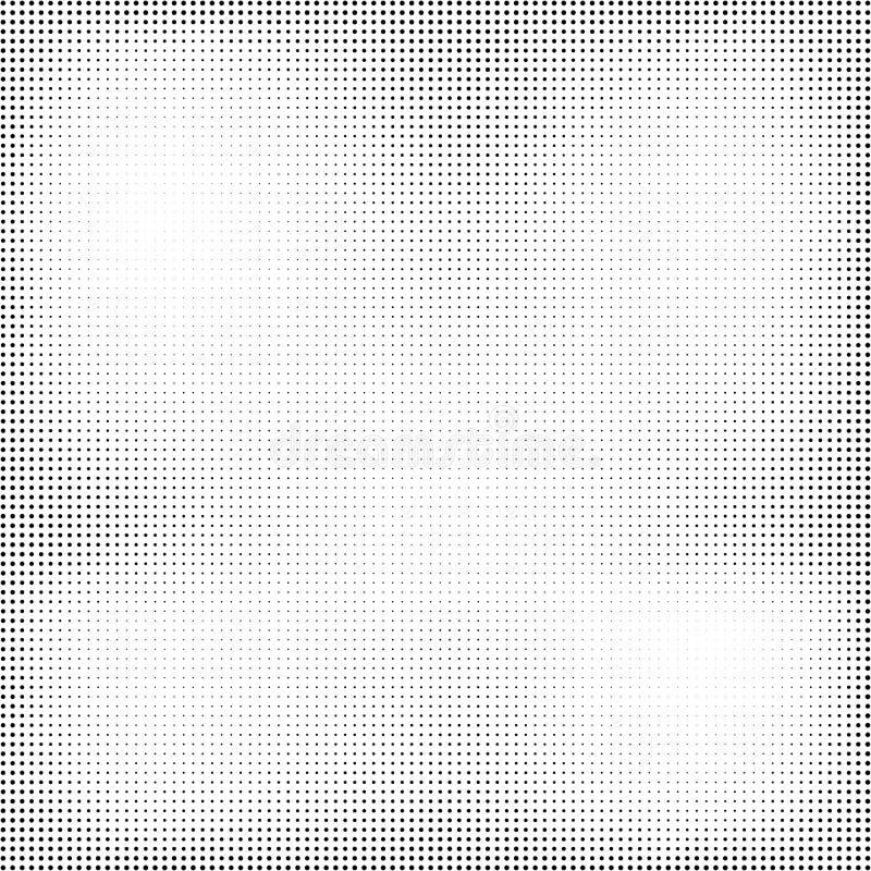 Grunge halftone textuur Punten retro uitstekende achtergrond Vector illustratie royalty-vrije illustratie