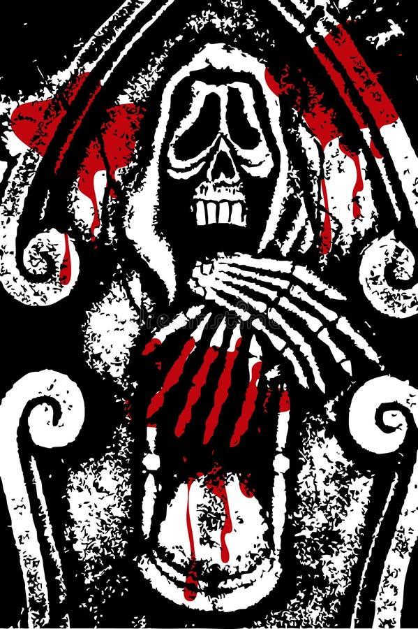 grunge halloween смерти крови бесплатная иллюстрация
