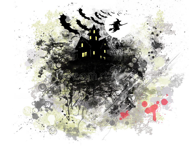 Grunge Halloween stock illustratie