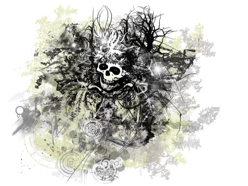 grunge Halloween. ilustracji