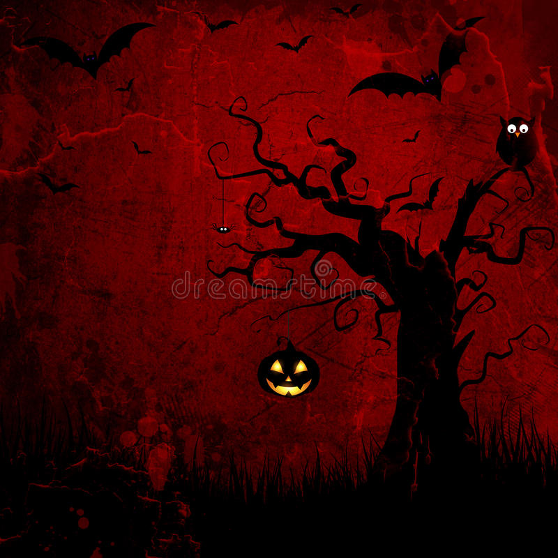 Grunge Halloween background stock illustration