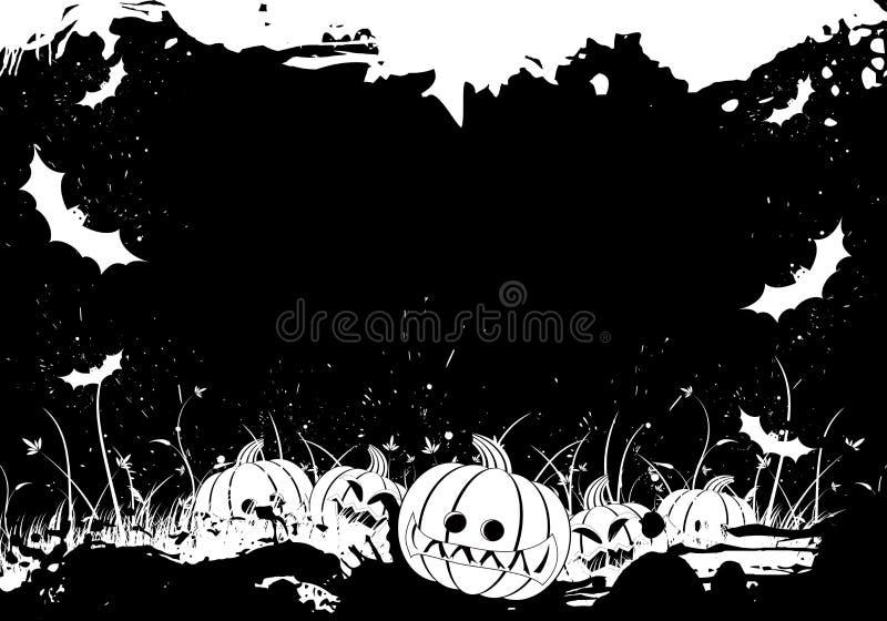 Grunge Halloween border royalty free stock photos