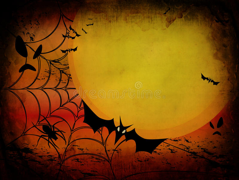 Grunge Halloween card or background vector illustration