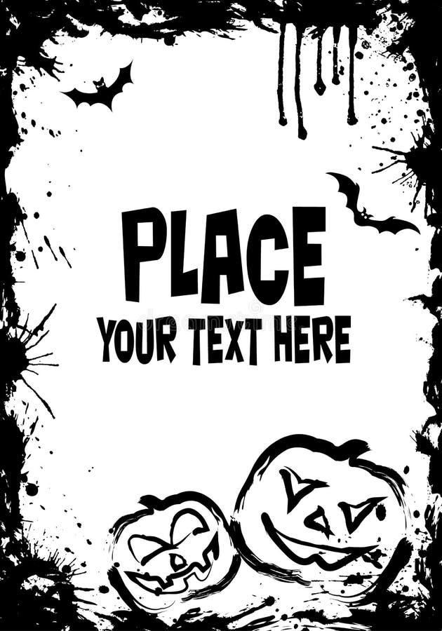 Grunge Halloween frame vector illustration