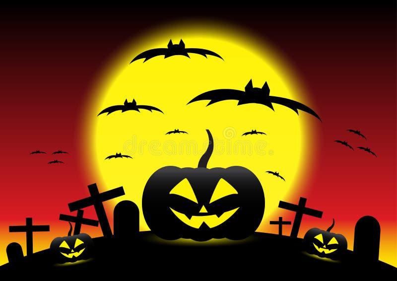 Grunge Halloween night background, illustration. General illustration stock illustration