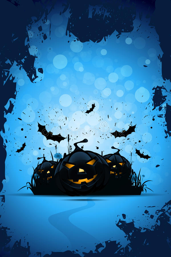 Grunge Halloween Party Background royalty free illustration