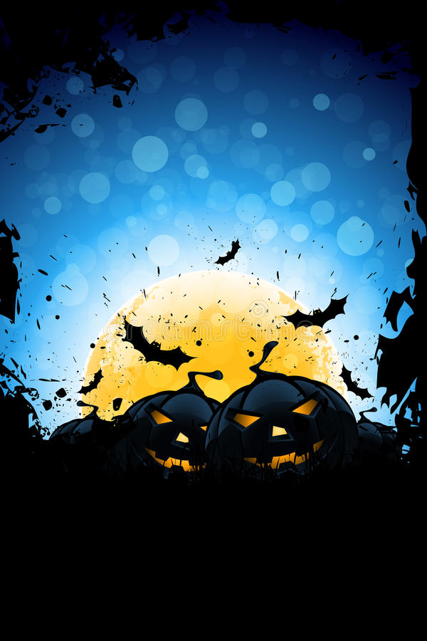 Grunge Halloween Party Background stock illustration