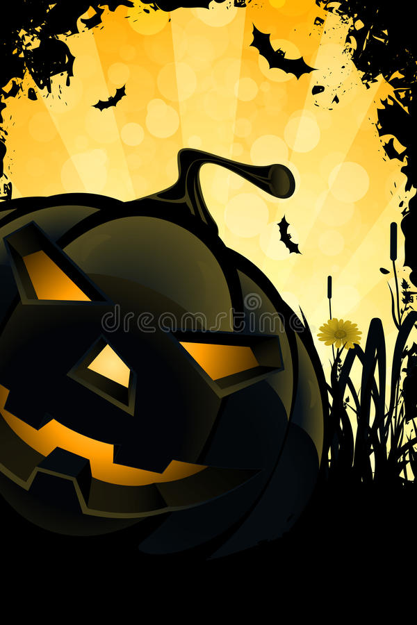 Grunge Halloween Party Background vector illustration
