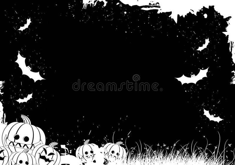 Grunge Halloween Rand vektor abbildung