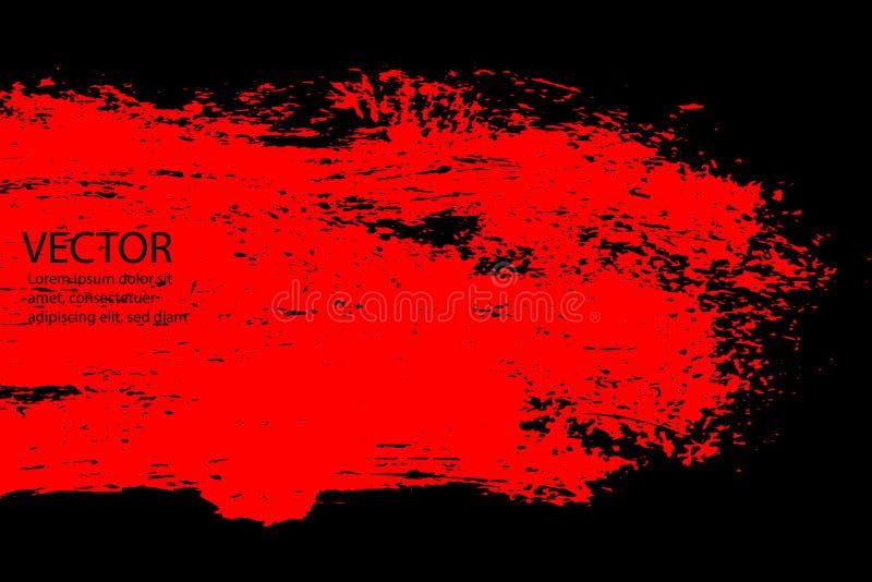Grunge Halloweenowy tło z krwionośnymi splats royalty ilustracja