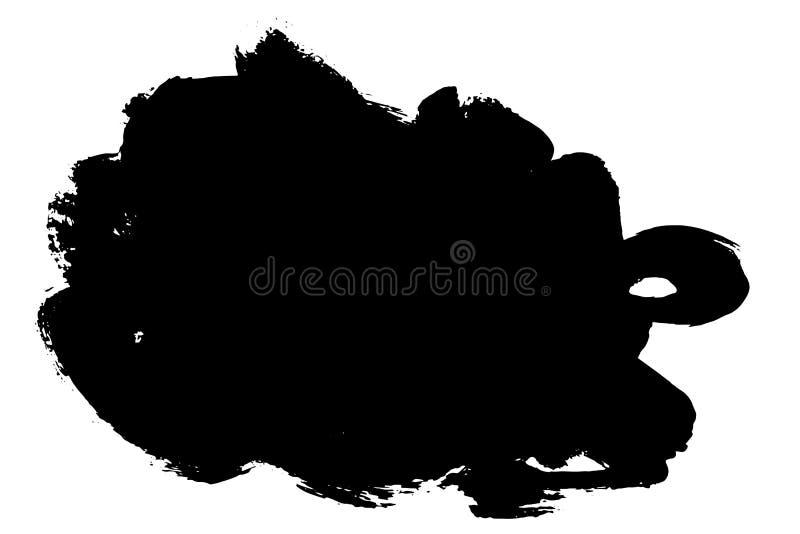 Grunge hand drawn paint brush stripe. Vector black ink brush stroke. Paint background high detail. Dirty design element, box, fram stock illustration