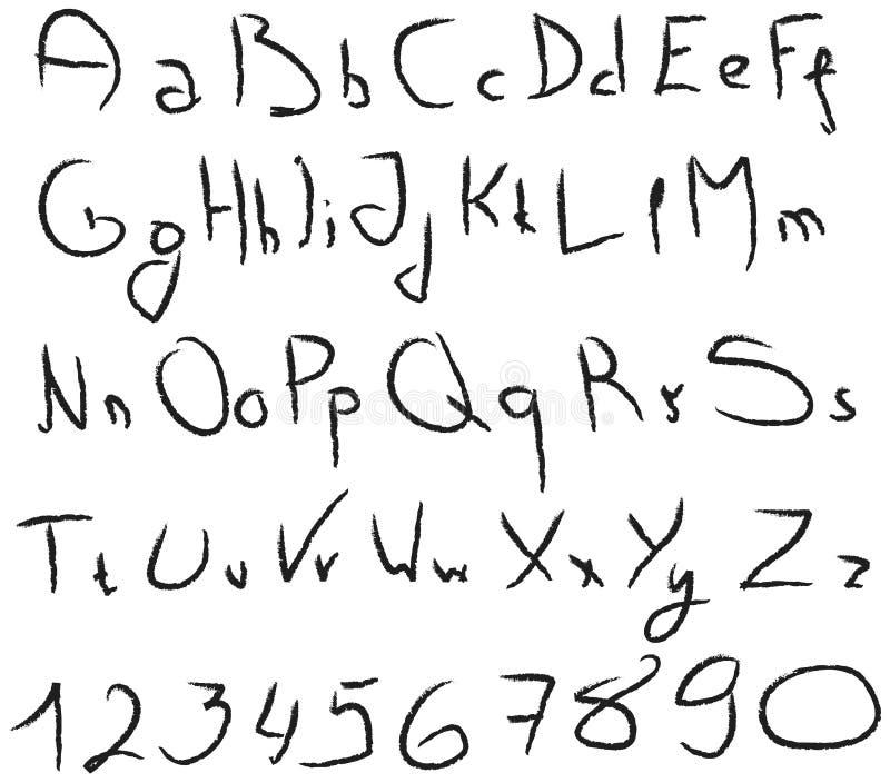 Download Grunge Handwritten Alphabet Stock Illustration - Illustration of design, print: 22441998