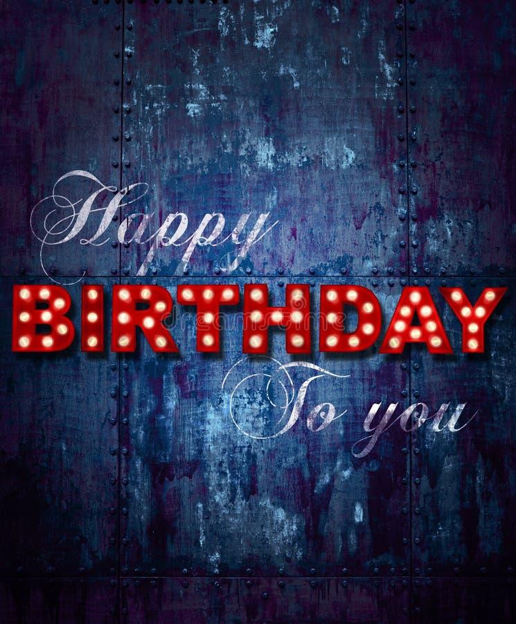 Grunge Happy birthday ship stock photos
