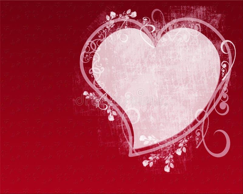 Grunge Heart Roses royalty free illustration