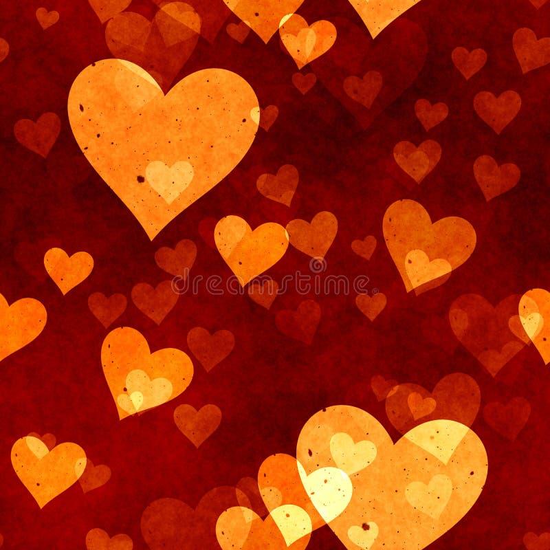 Grunge hearts royalty free illustration