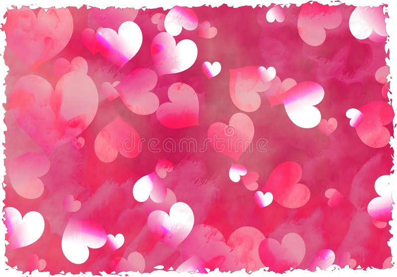 Grunge hearts royalty free stock photography