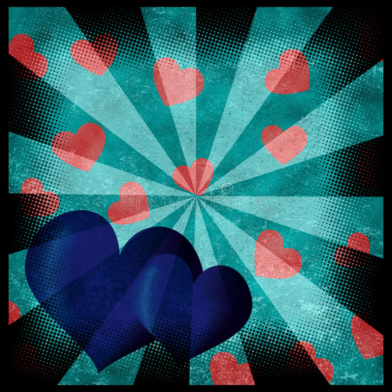 Grunge hearts background stock images
