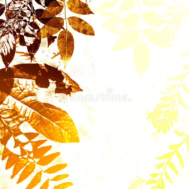 Grunge Herbst-Blatt-Schattenbild vektor abbildung