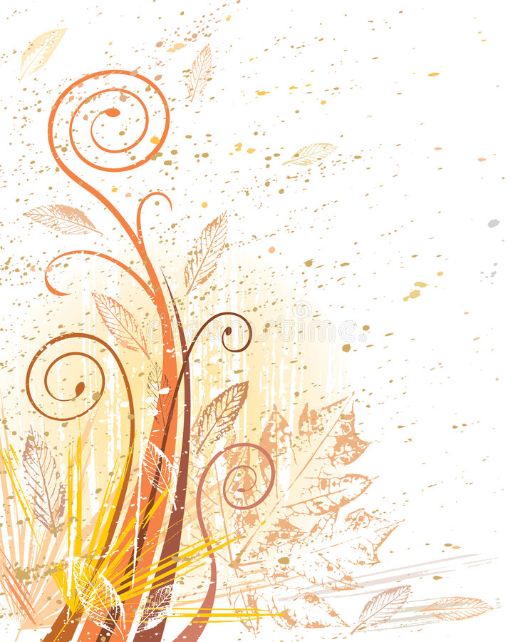 Grunge Herbstlaub vektor abbildung