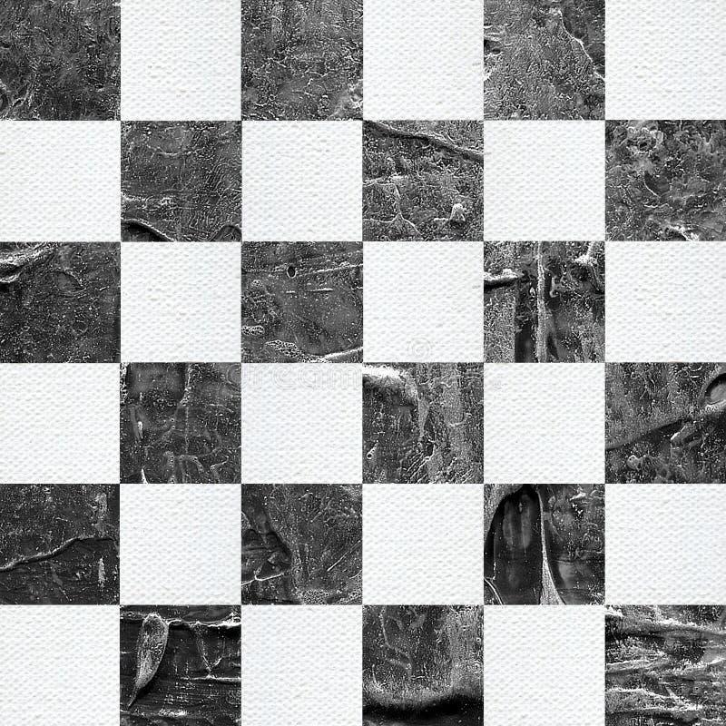 Grunge? hess текстурировали абстрактную checkered безшовную картину бесплатная иллюстрация