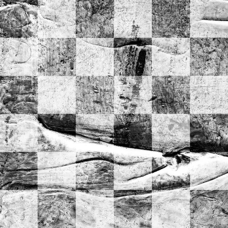 Grunge? hess текстурировали абстрактную checkered безшовную картину стоковое изображение rf